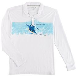 Reel Legends Mens Reel-Tec Sailfish Polo Shirt