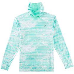 Reel Legends Mens Reel-Tec Water Stripe Neck Shield T-Shirt
