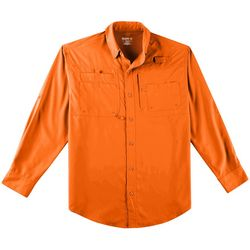 Reel Legends Mens Saltwater II Solid Long Sleeve Shirt