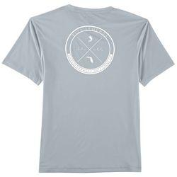 Reel Legends Mens Reel-Tec Wave Circle Logo T-Shirt