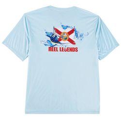 Reel Legends Mens Reel-Tec Florida Flag T-Shirt