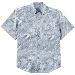 Reel Legends Mens Saltwater Plaster Short Sleeve Shirt