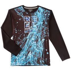 Reel Legends Mens Freeline Ink Water Long Sleeve T-Shirt