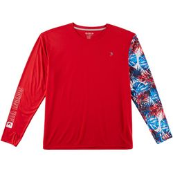Reel Legends Mens Reel-Tec Moto-X Americana Palms T-Shirt
