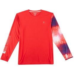 Reel Legends Mens Freeline Patriotic Dorado Shirt
