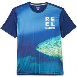 Reel Legends Mens Reel-Tec Grouper Pieced T-Shirt