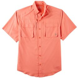 Reel Legends Mens Blackfin Solid Button Down Shirt