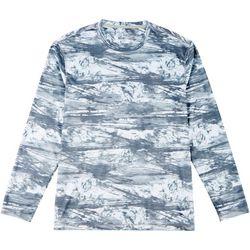 Reel Legends Mens Reel-Tec Splashline Long Sleeve T-Shirt