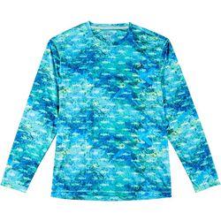 Reel Legends Mens Reel-Tec Choppy Water Long Sleeve T-Shirt