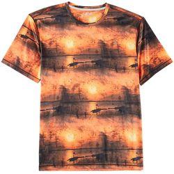 Reel Legends Mens Reel-Tec Sunset Grunge T-Shirt