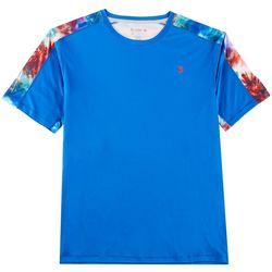 Reel Legends Mens Reel-Tec Beach Stripe Pieced T-Shirt