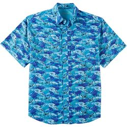 Reel Legends Mens Saltwater Barracuda Short Sleeve Shirt