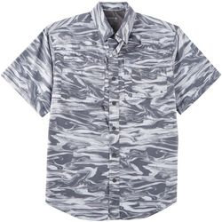 Reel Legends Mens Saltwater Sonic Waves Short Sleeve Shirt