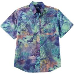 Reel Legends Mens Saltwater Mineral Short Sleeve Shirt