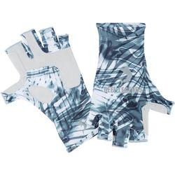 Reel Legends Mens Keep It Cool Aqua Palms Gloves