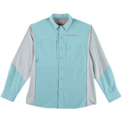 Reel Legends Mens Triumph Colorblocked Long Sleeve Shirt