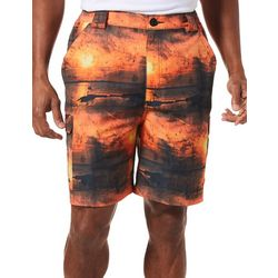 Reel Legends Mens Bonefish Sunset Grunge Shorts