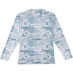 Reel Legends Mens Keep It Cool Wahoo Long Sleeve T-Shirt