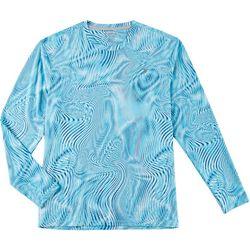 Reel Legends Mens Keep It Cool Optic Long Sleeve T-Shirt