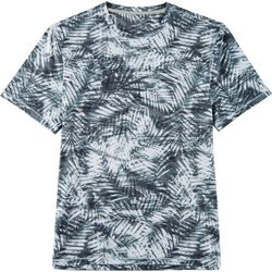 Reel Legends Mens Keep It Cool Aqua Palms T-Shirt