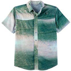 Reel Legends Mens Mariner King Fish Skin Short Sleeve Shirt