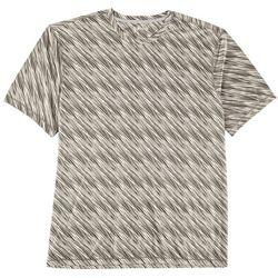 Reel Legends Mens Reel-Tec Diagonal Space Dye Crew T-Shirt