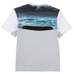 Reel Legends Mens Reel-Tec Storm Mesh Pieced T-Shirt