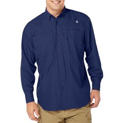 Reel Legends Mens Long Sleeve Saltwater Shirt