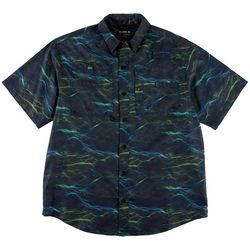 Reel Legends Mens Saltwater Point Waves Short Sleeve Shirt