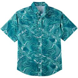 Reel Legends Mens Saltwater II Quick Line Short Sleeve Shirt