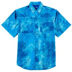 Reel Legends Mens Saltwater II Water Ripple Print Shirt