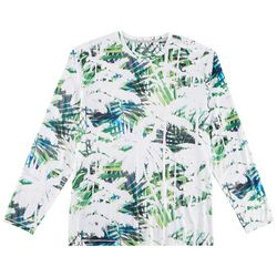 Reel Legends Mens Reel-Tec Painted Palms Long Sleeve T-Shirt