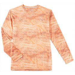 Reel Legends Mens Reel-Tec Snapper Skin Long Sleeve T-Shirt