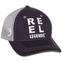 Reel Legends Mens Solid Logo Trucker Hat