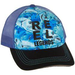 Reel Legends Mens Barracuda Trucker Hat