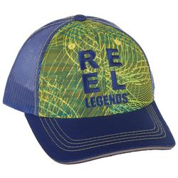 Reel Legends Mens Scan Spiral Trucker Hat