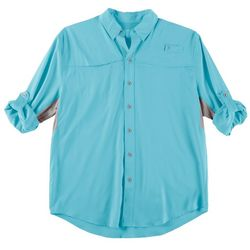 Reel Legends Mens Long Sleeve Solid Vented Mariner Shirt