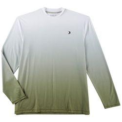 Reel Legends Mens Keep It Cool Ombre Long Sleeve T-Shirt
