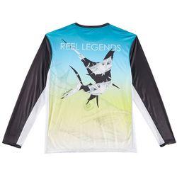 Reel Legends Mens Reel-Tec Ombre Long Sleeve T-Shirt