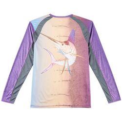 Reel Legends Mens Reel-Tec Sailfish Thumbhole T-Shirt