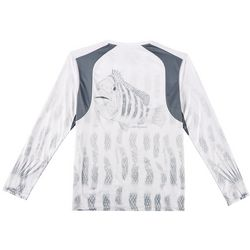 Reel Legends Mens Reel-Tec Sheepshead Thumbhole T-Shirt