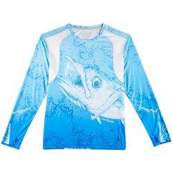 Reel Legends Mens Reel-Tec Kingfish Thumbholes T-Shirt