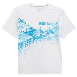 Reel Legends Mens Reel-Tec Red Tail Splash T-Shirt