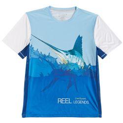Reel Legends Mens Reel-Tec Sailfish Mesh T-Shirt
