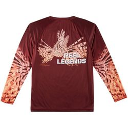 Reel Legends Mens Reel-Tec Lionfish Long Sleeve T-Shirt