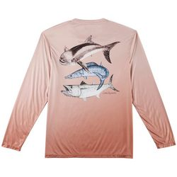 Reel Legends Mens Reel-Tec Villa Slam Long Sleeve T-Shirt