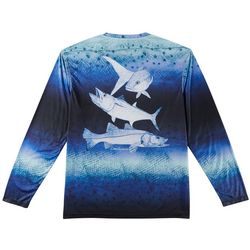 Reel Legends Mens Reel-Tec Grand Slam Long Sleeve T-Shirt