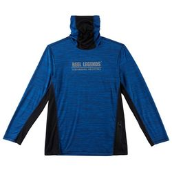 Reel Legends Mens Freeline Space Dyed Long Sleeve Pullover