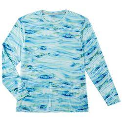Reel Legends Mens Keep It Cool Waterline Long Sleeve T-Shirt