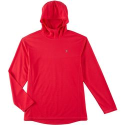 Reel Legends Mens Freeline Jacquard Logo Hooded Pullover